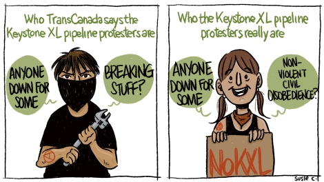 Susie Cagle TransCanada Eco-Terrorism Cartoon